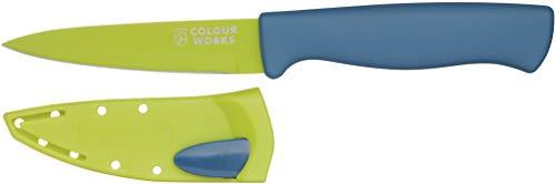 Colourworks CWBREKPARGRN - Afilador de cuchillos, Acero inoxidable, Diseño de manzana
