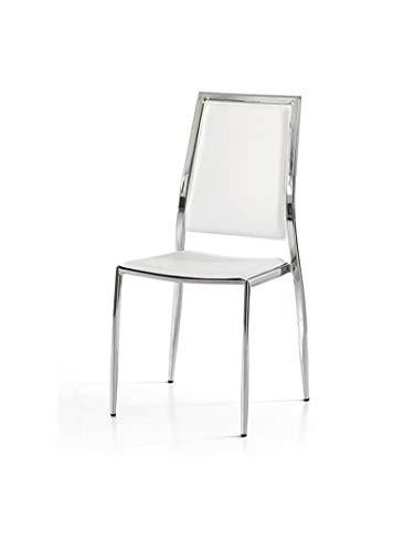 Lo Scrigno Arredamenti, Set 4 Sedie Moderne in Metallo Sedia Cucina Sala Soggiorno W618/M