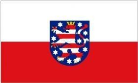 Deutschland Thuringen State Flagge 150cm x 90cm