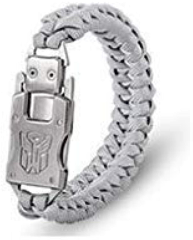 Outdoor Survival Multi Functional EDC Knife Gadget Parachute Rope Bracelet Convenient Emergency - White