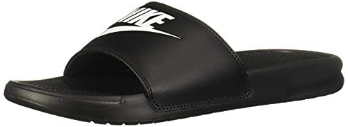 Nike Damen Benassi JDI Slipper, Black/White-Black, 40.5 EU