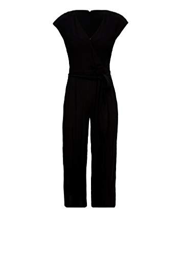 s.Oliver RED Label Damen Culotte-Jumpsuit aus Crêpe Black 36