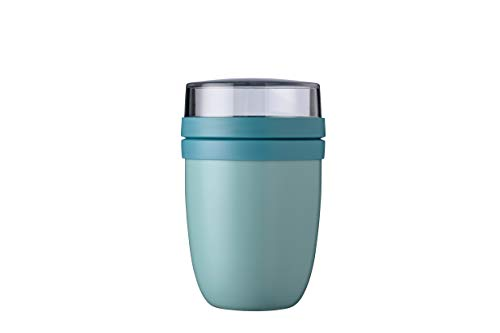 Mepal Lunchpot Ellipse Nordic Green – 500 ml praktischer Thermo-Essensbehälter, Joghurtbecher, to go Becher – Hält Speisen Lange warm oder kühl, Plastik, 500 + 200 ml