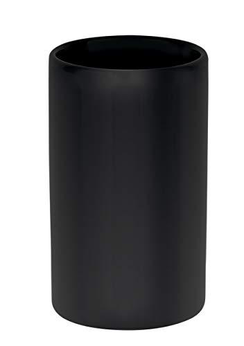 Spirella Zahnputzbecher Zahnbürstenhalter Keramik Tube 7x11,5 cm Schwarz Matt
