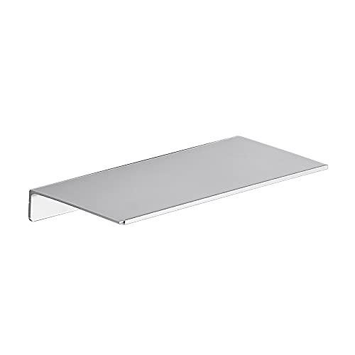 Danpoo Solución de estantería de pared, estante de pared de metal, estante flotante plateado para pared, estante pequeño de baño, organizador de ducha, aluminio, montado en la pared con tornillos o pegamento de 30,5 cm