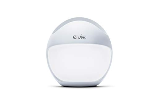 Elvie Curve Manual Wearable Breast Pump - Hands-Free Portable Silicone Pump That Can Be Worn in-Bra