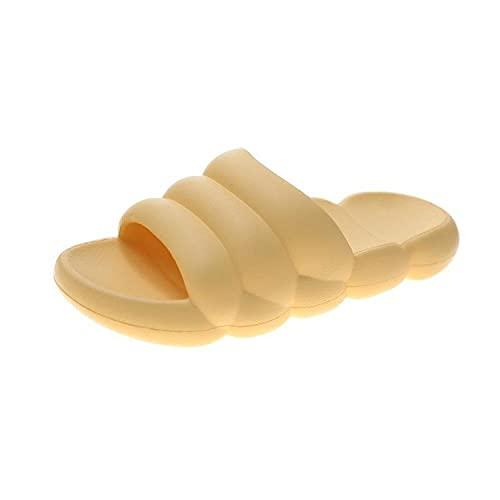 ypyrhh Sandalias de Talón Abierto para Mujer,Zapatillas Frescas al Aire Libre cómodas,Zapatos de Moda Playa-Amarillo_36,Sandalias Verano Antideslizante