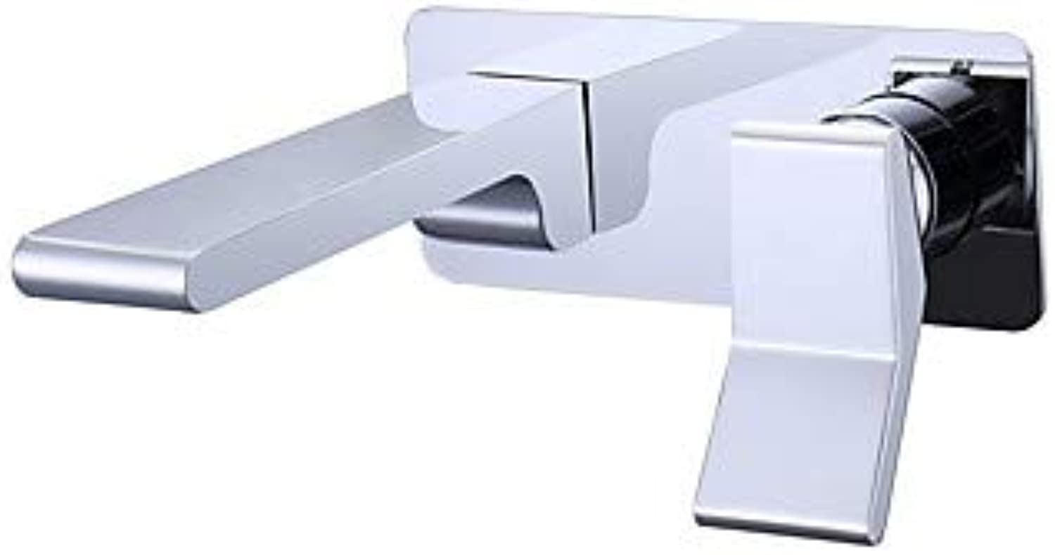 BSF-Bathroom Sink Faucet - Waterfall Chrome Centerset Single Handle One Hole Chrome