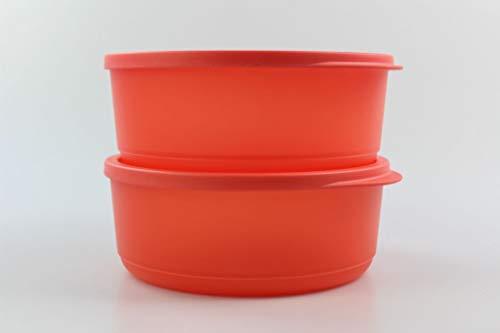 Tupperware Kühlschrank Geburtstagskracher rund 950ml rot Frischebehälter (2) 35177