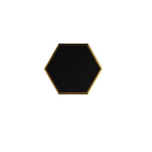 LUOSI 1 Stück Vergoldet Keramik Placemat Wärmeisolierungsuntersetzer Porzellanmatten Pads Tisch Dekoration (Color : C)