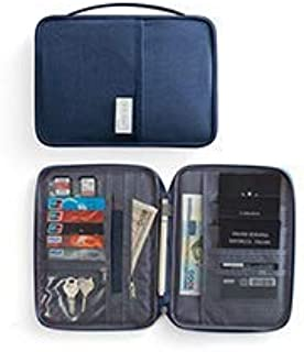 Travel Wallet Passport Holder, Family Waterproof Document Organizer Fits Credit Cards, Phone and Tickets, Stylish Light weight with Hand Strap. (Navy Blue) Dream Travel By Cloudin