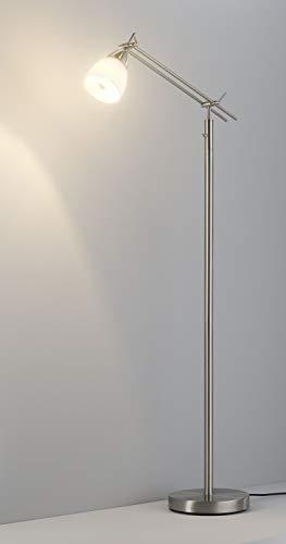 Casa Nova Stehleuchte CURO (DH 23x150 cm) DH 23x150 cm grau Stehleuchte Stehlampe Leseleuchte LED-Stehleuchte Bogenleuchte