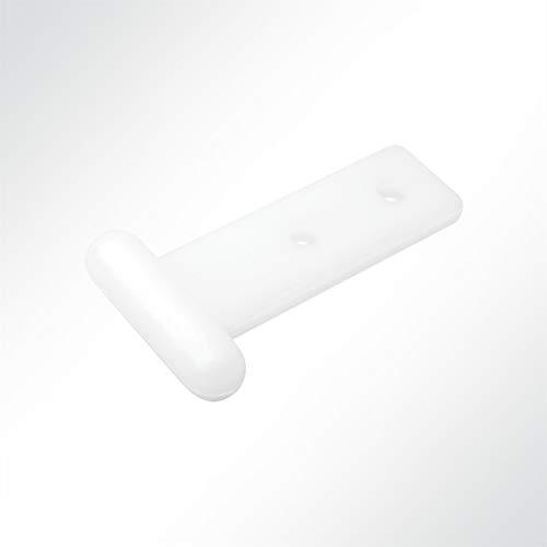 KROKOFIX® Schienengleiter für Kederschienen Stabgleiter weiß Nylon 11mm
