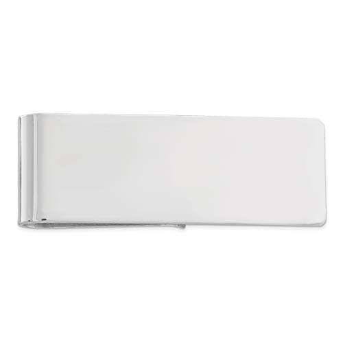 FindingKing Sterling Silver Money Clip,Metallic,One Size Fits Most