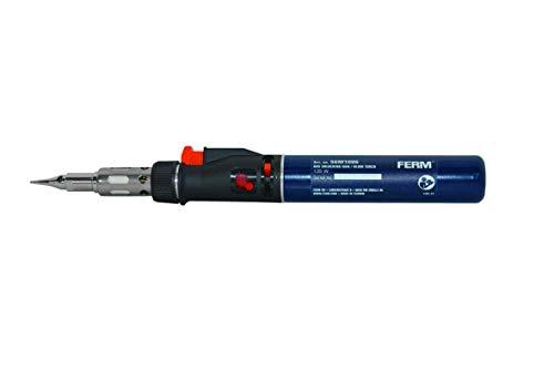 FERM Saldatore a Gas Ricaricabile. Temperatura di saldatura 400 ° C. Include 3 punte, coltello, riflettore e 2 chiavi
