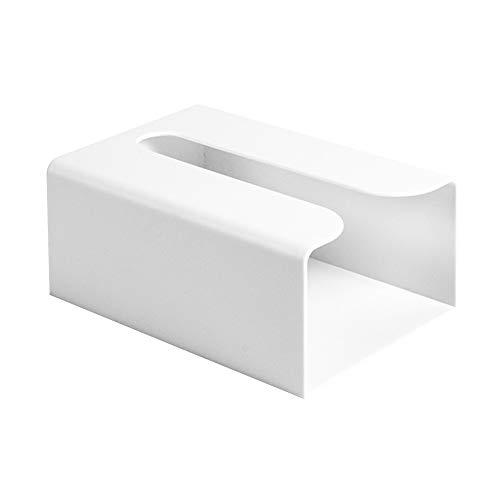 Caja pañuelos llo Papel Adhesivo Servilleta Accesorios Cocina Bolsas Basura Dispensador baño Inodoro Soporte montado en la Pared Impermeable Cuadrado Moderno(Blanco)