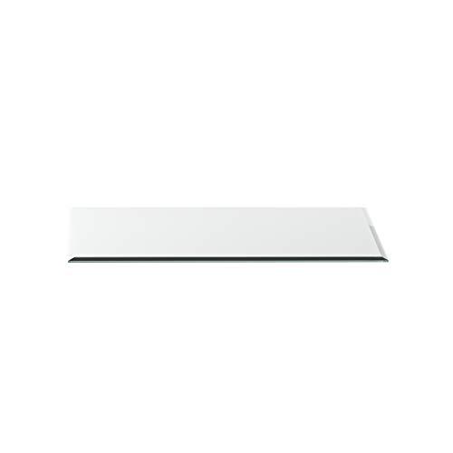 Vonkenwerende plaat G24 rechthoek ESG 6mm x 500mm x 1000mm met 18mm facet glasplaat bodemplaat schoorsteenplaat vonkenbescherming ovenplaat open haard glas