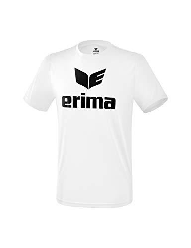 ERIMA Kinder T-shirt Funktions Promo T-Shirt, weiß/schwarz, 128, 2081907