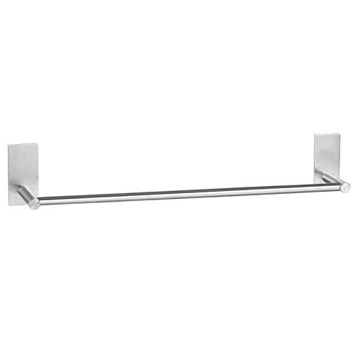 litulituhallo Towel Rail Self Adhesive Holder Brushed Stainless Steel Bar For Bathroom Towel Rail