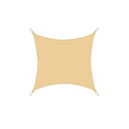 DIANPU Velas De Sombra para Patio, Cuadradas Impermeables Protección Solar Y Protección UV Velas De Sombra para Patio Exterior Y Jardín (2.5m*2.5m,Amarillo Arena)