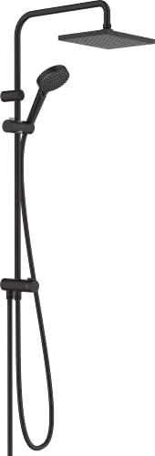 hansgrohe 26282670 Vernis Shape 230 - Sistema de ducha (1 tipo de chorro, efecto mate), color negro