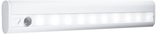 Osram Linear LED Mobile Batteriebetriebene Leuchte, für innenanwendungen, Bewegungssensor, Tag-Nacht-Sensor, Kaltweiß, 314, 0 mm x 48, 0 mm x 18, 0 mm