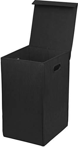 Simple Houseware Foldable Laundry Hamper Basket with Lid Black