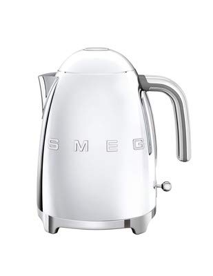Smeg KLF03SSUS 50's Retro Style Aesthetic Electric Kettle with Embossed Logo, Polished Stainless Steel.