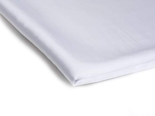 Stoff Satin Dünn Dehnbar Dekostoff - Erhältlich in verschiedenen Farben - 50 x 150cm (Weiß Nr 1)