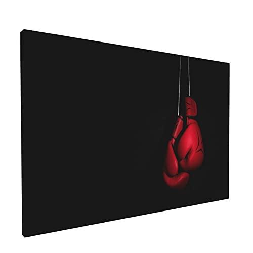 Minalo Rahmenlos Wandkunst Leinwandbilder,Rote Boxhandschuhe,Heimbüro Wand Dekoration Ölgemälde Mode-Kunstwerk,18