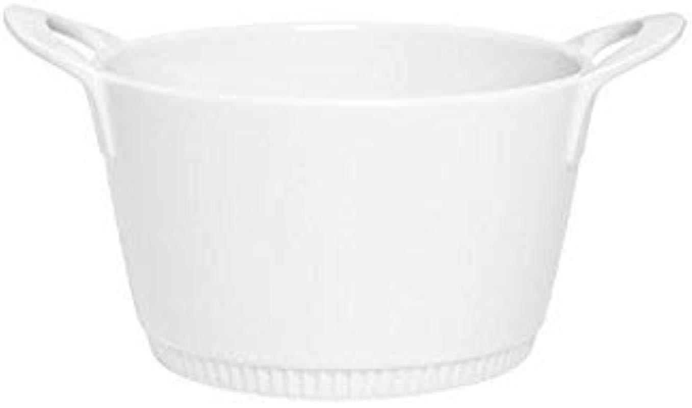 Pillivuyt France TOULOUSE COLLECTION White Porcelain Legumier Vegetable Dish Baker With Handles 6 25 Inner Diameter