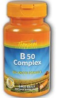Vitamin B Complex, 50 60 Caps by Thompson (Pack of 3)