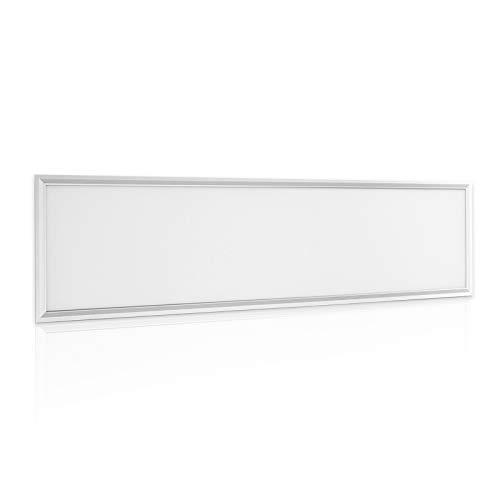 OUBO LED Panel Deckenleuchte 120x30cm Warmweiß, 36W, 3600 lumen, 3000K, dünn Ultraslim, Weißer Rahmen, Wandleuchte für Wohnraum, Bad, Flur, Wand, Decke, Küchen, 1er Pack