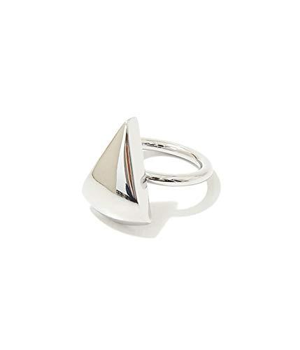 [ソワリー] [レディース]Metal stone ring(Triangle) シルバー フリーサイズ(ワンサイズ)