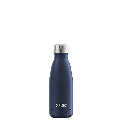 FLSK La bouteille isotherme originale garde au chaud pendant 18 h et au froid pendant 24 h (couleur Midnight 350 ml).