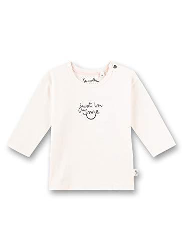 Sanetta Pure Baby – Camiseta de manga larga unisex de algodón orgánico con un texto «Just in Time» beige 56 cm