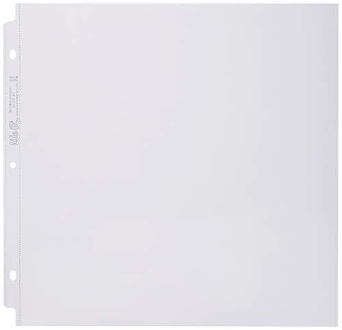 We R Memory Keepers Fundas para fotografías página Completa para Anillas, 20,32 x 20,32 cm, Paquete de 10 Unidades