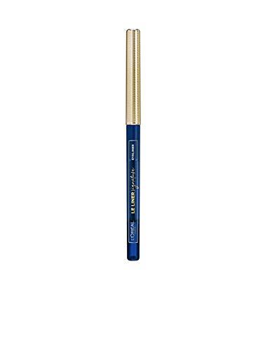 L'Oréal Paris Le Liner Signature 02 Blue Denim, präziser & langanhaltender Eyeliner, Stiftform mit herausdrehbarer Mine, wisch- und wasserfest
