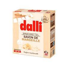 Dalli Savon de Marseille Waschmittel 20° - 95 ° mit natürlichen Kernflocken Vollwaschmittel 1,95 KG