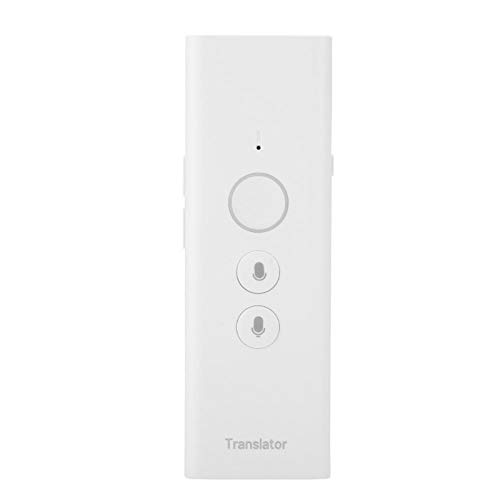Hand-Held Intelligent Translator Mini Smart Two Way Real Time Instant Multi-Language Translator for Learning Travelling Business(White)