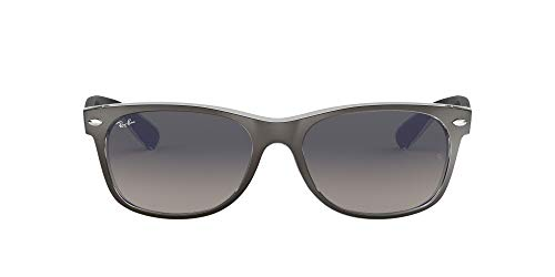 Ray-Ban New Wayfarer, Gafas de Sol Unisex adulto, Gris (Gunmetal and Transparent 614371), 52 mm