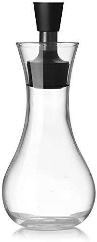 CLQ Dispensador de Aceite Multifuncional con Pico de Acero Inoxidable para Aceite de Oliva, vinagre, Salsa de Soja, Botella de Vidrio para Barbacoa de Cocina, 250 ml-2pcs