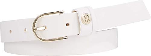 Tommy Hilfiger Damen Classic Belt 2.5 Gürtel, White, 80