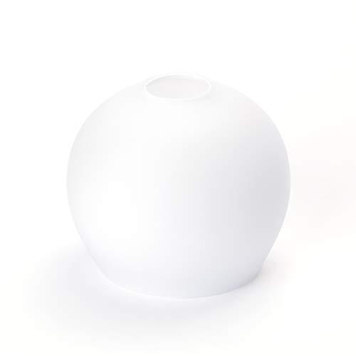Paralume in vetro di ricambio, bianco, attacco E14, diametro 30 mm