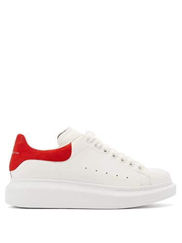Alexander McQueen White Red Oversize Sneakers New FW20 (Numeric_10_Point_5)