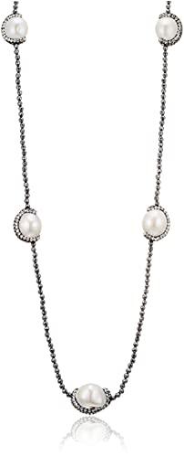 [ピュアパール] pure pearl 淡水パール&ヘマタイトロングネックレス PPY6050N