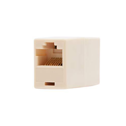 NanoCable 10.21.0401-OEM - Empalme para cable de red Ethernet RJ45, Beige, hembra-hembra,...
