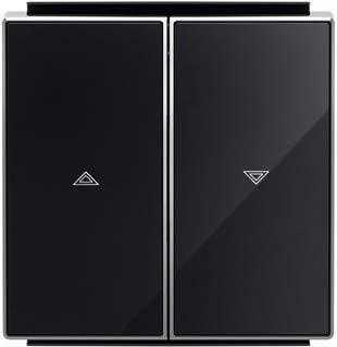 Niessen sky - Tecla interruptor persiana cristal negro