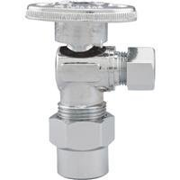 Watts LFPBQTC-270 Quarter Turn Angle Valve, 1/2-Inch CPVC by 3/8-Inch COMP by Watts