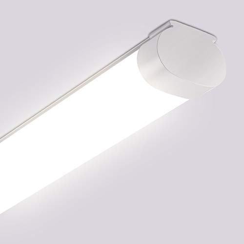 Oeegoo LED Feuchtraumleuchte 60CM, 16.5W 1700LM led Deckenleuchte, IP65 Wasserfest Wannenleuchte Feuchtraumlampe Röhre für Garage, Lager, Werkstatt, Garten, Bad Küchen usw 4000K